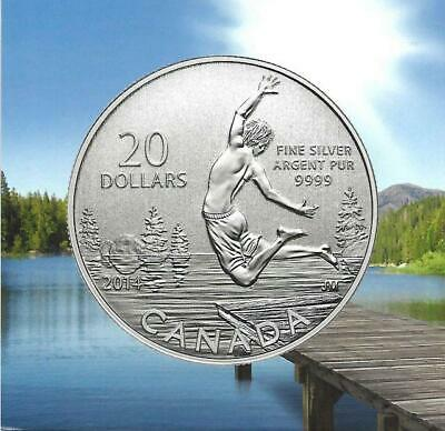 Canada - 2013 $20 for $20 Series - Summer Fun' Proof $20 Silver Coin .9999 Fine