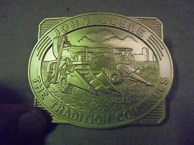 John Deere proud to be a logger vintage belt buckle.1994