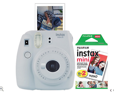 Fujifilm Instax Mini 9 Instant Film Camera Bundle - White