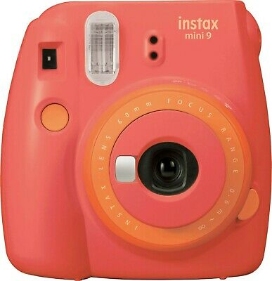 Fujifilm Instax Mini 9 Instant Film Camera - Color Papaya Coral