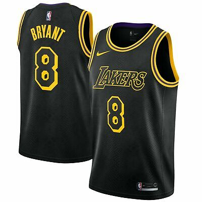 Kobe Bryant #8 Los Angeles Lakers Swingman Jersey Yellow and Black Size S-XXL