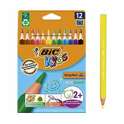 BIC Kids Evolution Triangle ECOlutions Colouring 12 Pencils JAPAN IMPORT