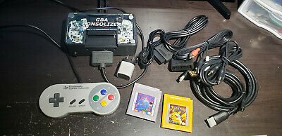 Gameboy Advance Full Case Consolizer With Super Famicom Controller and Pokemon