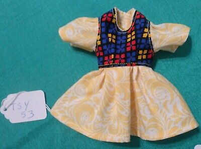 Yellow Dress w Multicolor Bodice for Teen Skipper Barbie & HS Musical Doll TSY53