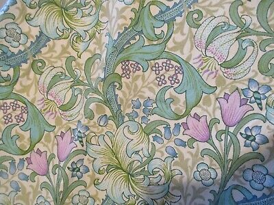 Sanderson William Morris Golden Lily Minor Vintage Curtains Fabric Crafts Large!
