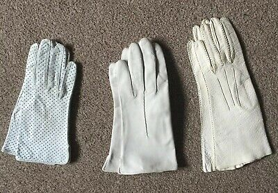 Ladies Vintage Leather Gloves X 3. Stage Theatre Wear. Costume.