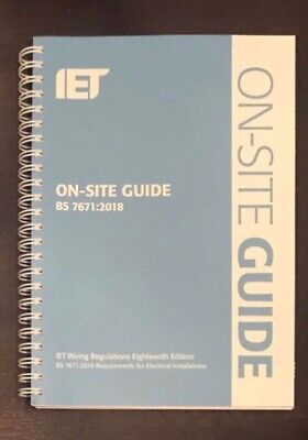 IET On Site Guide Wiring Regulations 18th Edition 2018 BS7671 OSG Blue Spiral