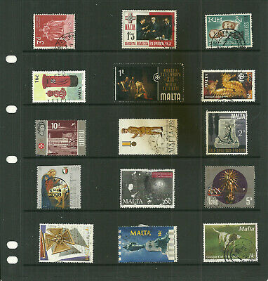 Commonwealth Island Malta  6  stock sheets large   mix collection stamps
