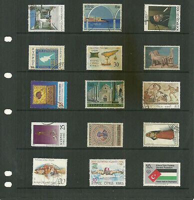 Commonwealth   Cyprus 6   stock sheets  large  mix collection stamps