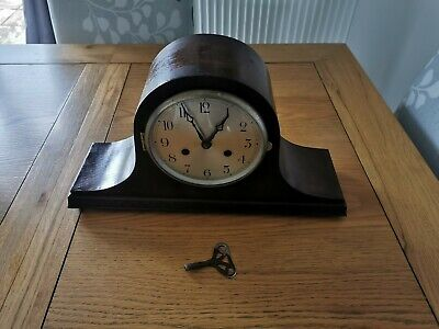 Antique  Mantle Clock Good Working Condition With Key