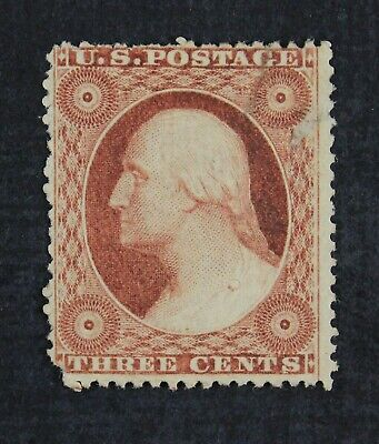 CKStamps: US Stamps Collection Scott#26 3c Washington Unused NG Spot Thin