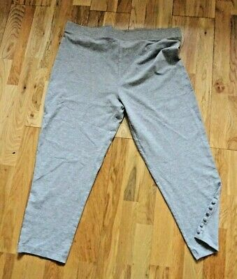 New Without Tags Grey Marl Crop Leggings M&CO UK Size XL