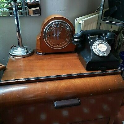 Superb Smiths Electric 1930'S Art Deco Wooden Mantle Clock
