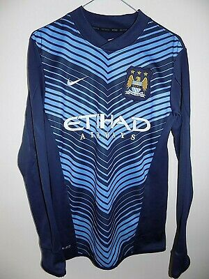 manchester city training jumper by nike size s training football shirt