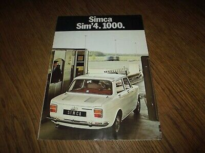 Catalogue Simca 1000 Sim'4. 1971.