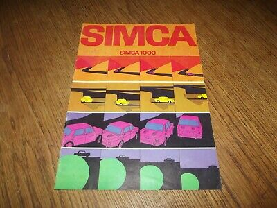 Catalogue Simca 1000. 1969.