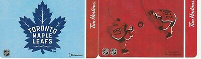 2 Tim Hortons Gift Cards $0---Toronto Maple Leafs/NHL--Collectible----NO VALUE