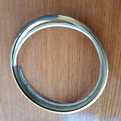 "Brass And Chrome Bezels For Napoleon Hat Style Clocks 6"" Glass"