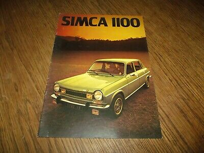 Catalogue Simca 1100 Avec Ti 1975.