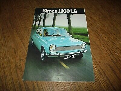Catalogue Simca 1100 Ls 1972.