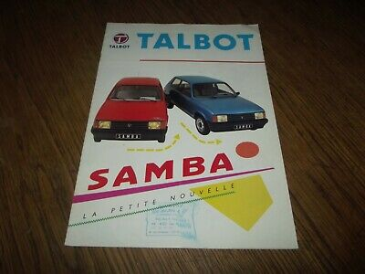 Premier Catalogue Talbot Samba 1982.