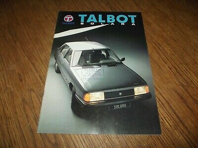 Catalogue Talbot Solara 1982.