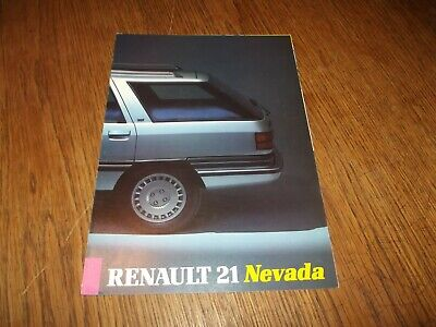 Catalogue Renault 21 Nevada 1986.