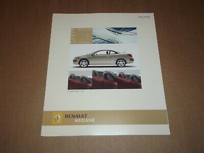 Catalogue Renault Megane Coupe Cabriolet Duetto 2005.