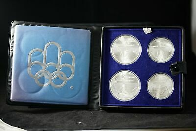 1976 Montreal Canada Olympic Sterling Silver (.925) 4-Coin Set w/ Box & COA