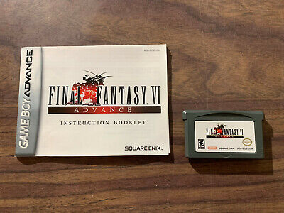 Final Fantasy VI 6 Advance (Game Boy Advance, GBA) -- Authentic with the manual