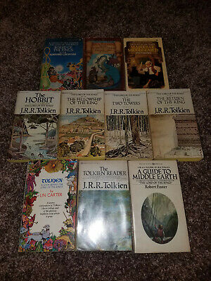 J. R. R. Tolkien 10 Books Lot: Hobbit, Lord of the Rings, Middle Earth, and more