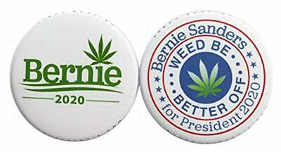 Bernie Sanders Pro Weed Legalization Buttons (2 pack)