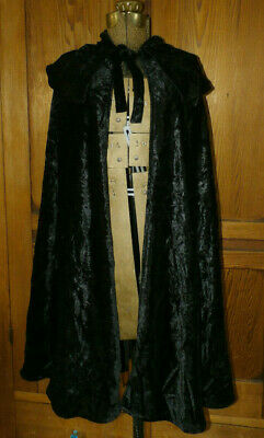 New Full Length Hooded Velvet Cape by Charades Halloween 00998 Costumania