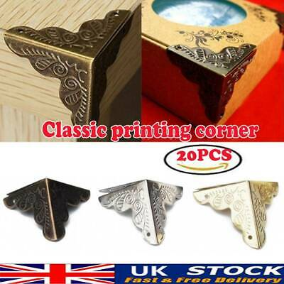 20X Antique Iron Corner Protector Guard for Jewelry Wine Gift Box Wooden Case UK