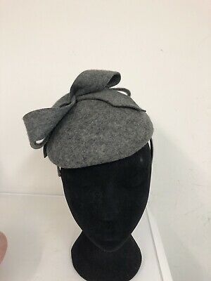 Grey Felt Fascinator Hat Weddings Christenings Ladies Day Ascot