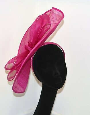 Pink Bow Fascinator On Headband Weddings Christenings Ladies Day Ascot