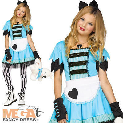 Alice In Wonderland Girls World Book Day Fancy Dress Kids Childs Costume Outfit