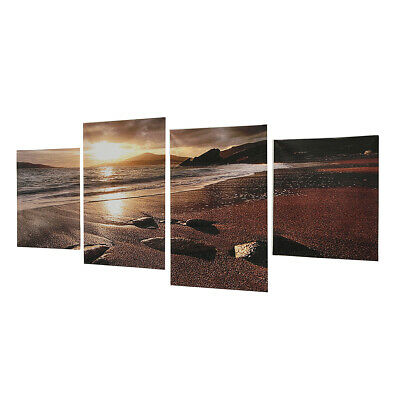 4Pcs Modern Sunset Beach Print Wall Art Painting Picture Home Decor Unframed UK
