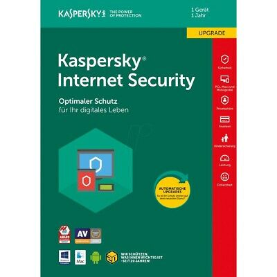 Kaspersky Internet Security 2020 / 2019 1 Gerät Vollversion Deutsch