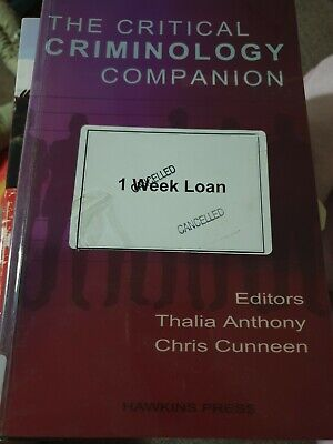 Textbook: The Critical Criminology Companion - ex Library book. Used condition
