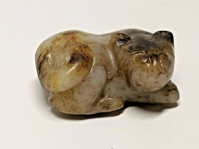 Fine Early Chinese Jade, Crouching Feline