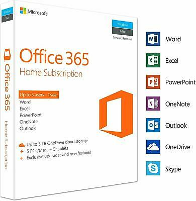 Office 365 Pro 5 PC 5MAC office2019/2016 New Account -Complete lifetime