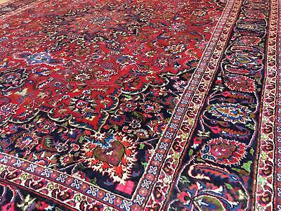 A FANTASTIC OLD HANDMADE TRADITION ORIENTAL CARPET (370 x 290 cm)
