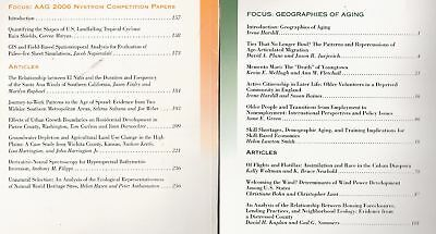 THE PROFESSIONAL GEOGRAPHER 6 back issues journals geography GIS subscription