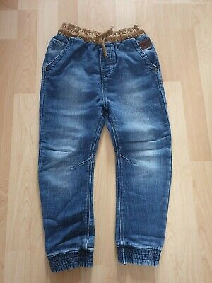 Next Boys Blue Soft Denim Cotton Joggers Jeans Size 8 Yrs 128cm