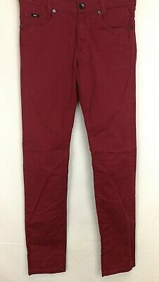 Hugo Boss Boys Jeans, Age 14S, Red, Slim Fit, Cotton Blend, Good Condition
