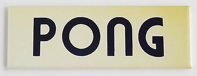 Pong Marquee FRIDGE MAGNET (1.5 x 4.5 inches) arcade video game header