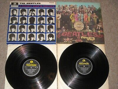 The Beatles vinyl lp A Hard Day's Night PMC1230 Sgt Peppers PCS7027 Test Played