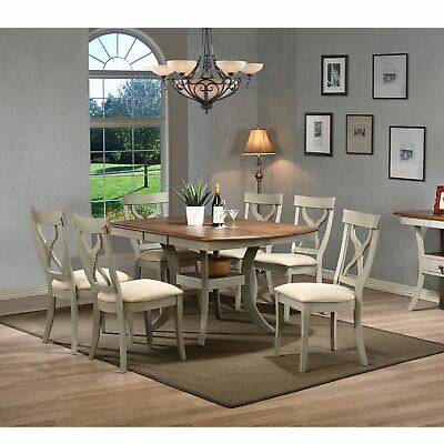 Balmoral Shabby Chic Country Cottage Antique Oak Wood and Brown 7-Piece Sets