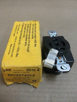 NEW Hubbell 2510A 20A 4 pole 5 wire Twistlock Receptacle